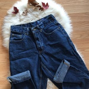🍁 High waisted vintage Eddie Bauer mom jeans 90s